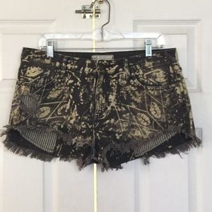 Free People color washed black jean shorts 31